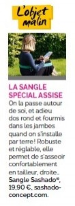 La sangle spécial assise