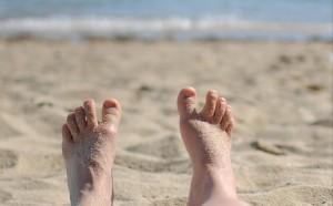 pieds en éventail