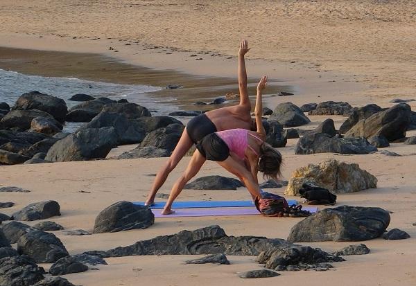 Yoga et mer